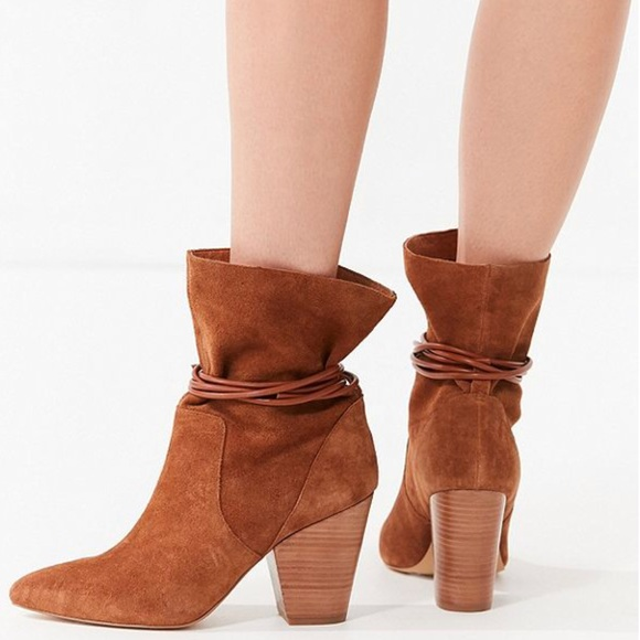e453b90c6a UO Carla Slouch Suede Ankle Boots. NWT. Urban Outfitters